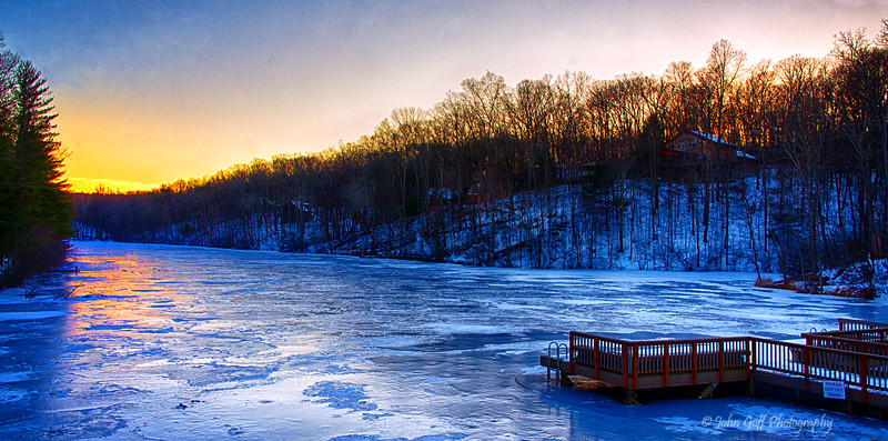 Frozen Late at Sunset<br /> Hedgesville, WV
