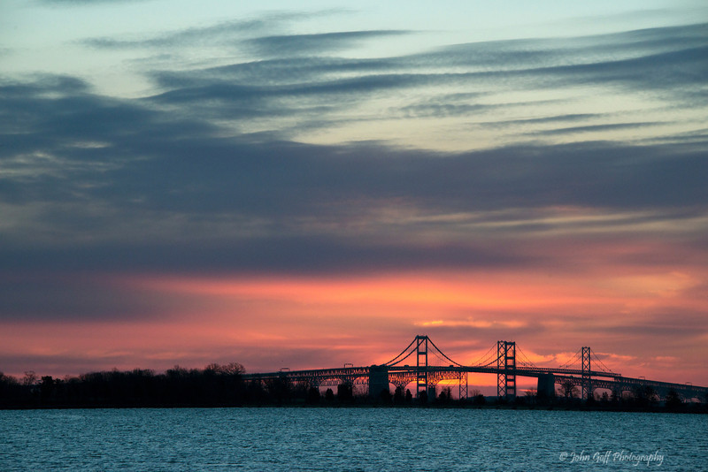 It's Not Up Yet<br /> Sun Rise Over Chesapeake Bay Bridge<br /> Annapolis, Maryland