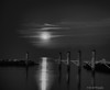 The Moon In Black & White<br /> Moon Rise,  <br /> North Beach,  Maryland,