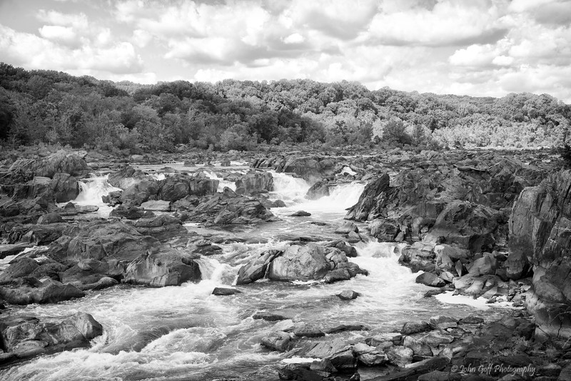 The Great Falls (Black & White)<br /> Great Falls