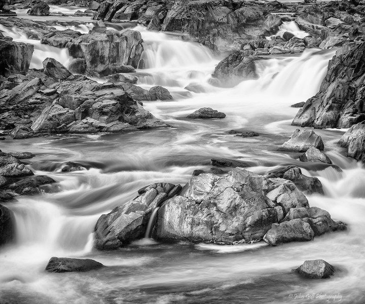 Smooth Water II  (Black & White)<br /> Great Falls