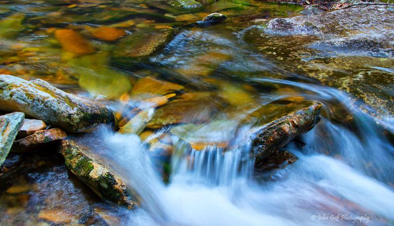 Water Over Rocks<br /> Seven Devils; North Carolina