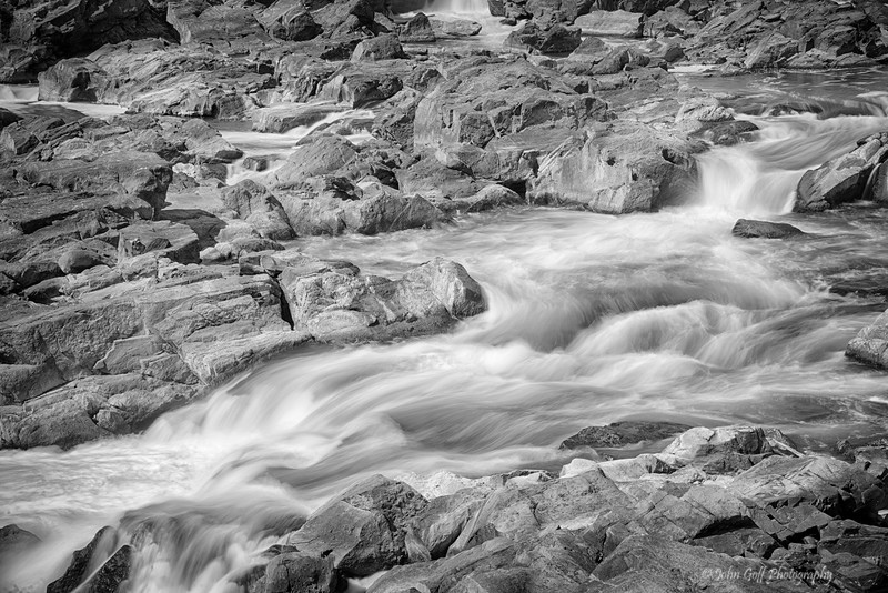 Running Water (Black & White)<br /> Great Falls