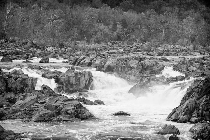 Season Changing  (Black & White)<br /> Great Falls