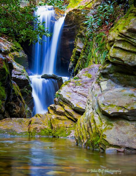 Blue Falls<br /> Seven Devils; North Carolina
