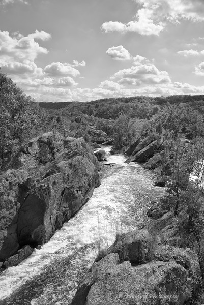 The View  (Black & White)<br /> Great Falls