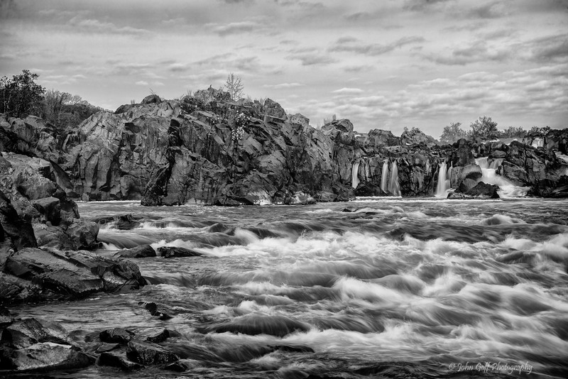 Great Falls  (Black & White)<br /> Great Falls