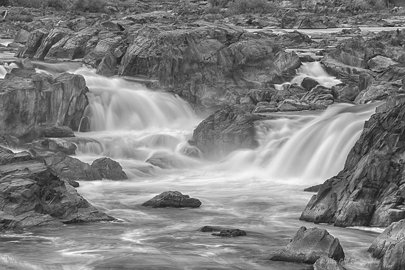 Smooth Water (Black & White)<br /> Great Falls