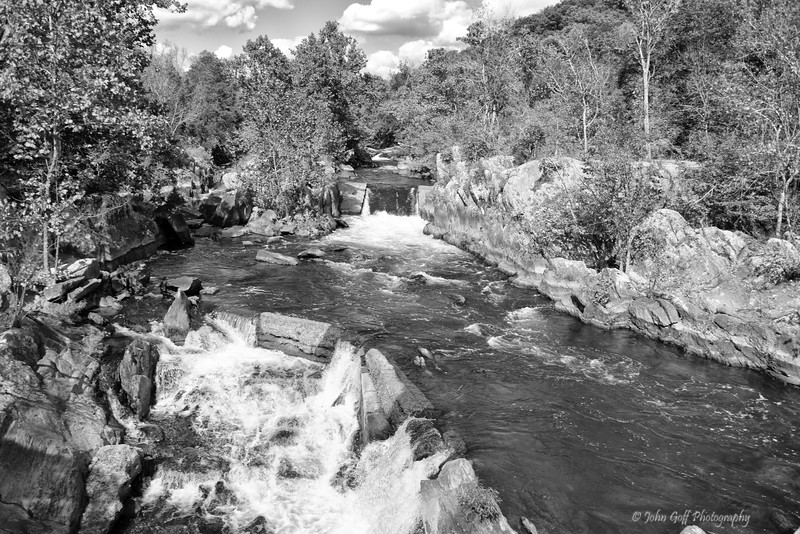 On The Way To The Great Falls  (Black & White)<br /> Great Falls