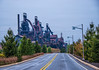 Road to the SteelStacks<br /> SteelStacks at Christmas<br /> Bethlehem Pennsylvania