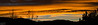 Original, as shot.<br /> <br /> Panorama from four photos, looking East, just after the sun has set behind the mountains.  This is zooming in on the lower third and center of the previous photo.