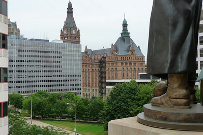 That's Milwaukee City Hall in the background