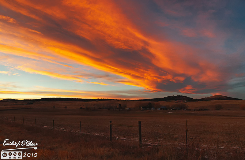 On the way home on the 17th off November.  This is the view looking North- Northwest on County Line Road halfway between CO-Hwy 83 and I-25