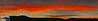 On the way home on the 17th off November.  This is a panorama (five photos merged) of what the sunset looked like.