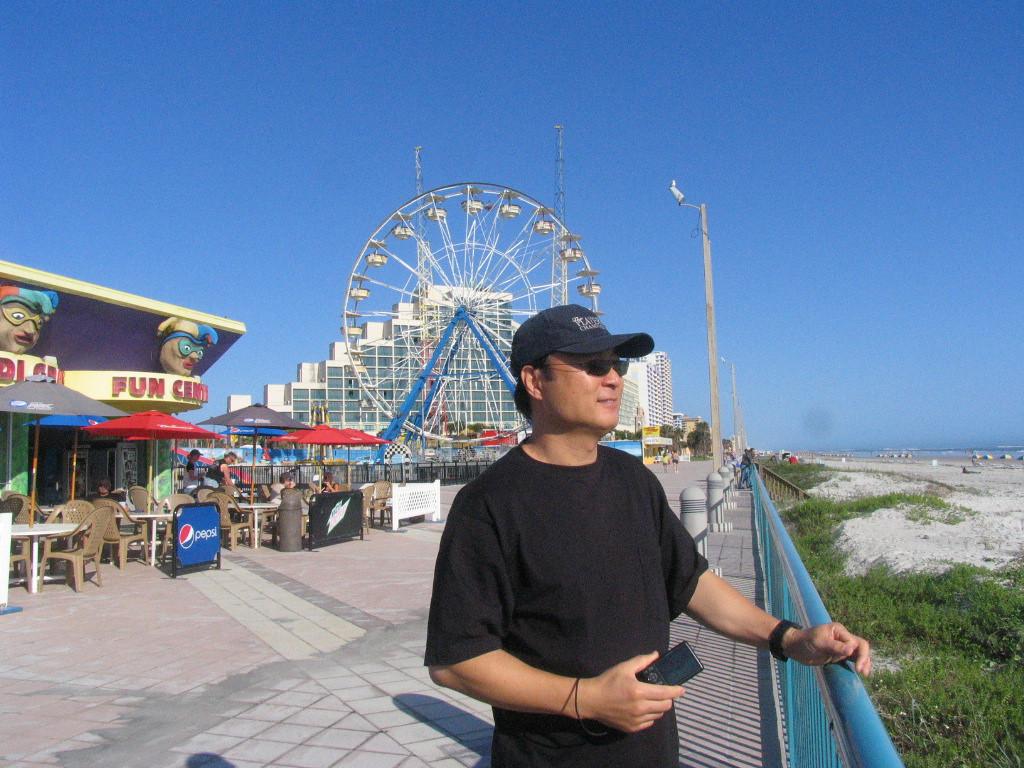 My buddy Dae on the boardwalk in Daytona Beach!