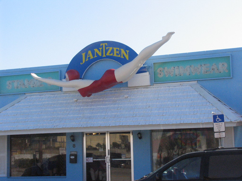 The Jantzen girl still swims off Main Street!  I remember this from when I was a kid back in the 60's!