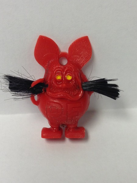 RED WITH WHISKERS, LARGE R.F. , SINGLE HOLE BACK
