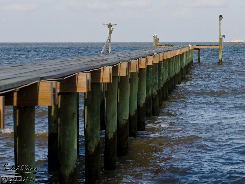 Most of the piers are new because of hurricane Ike.  It wiped this area out, destroying nearly all the homes.