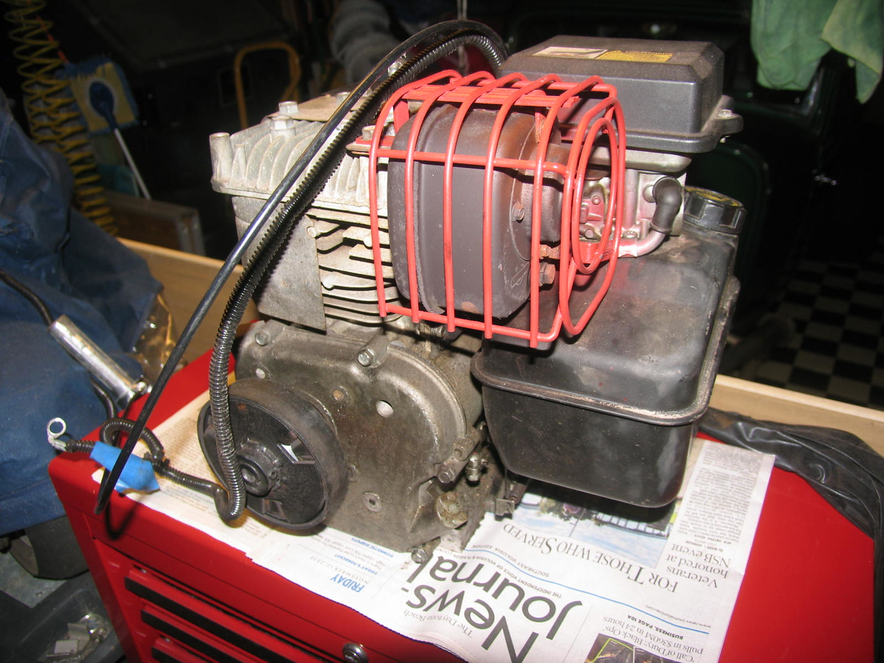 "10 HP Briggs & Stratton ""Animal"" motor"