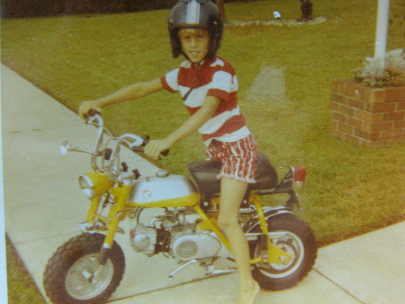 My Honda Mini Trail 50, the second bike.  These were great little bikes, I wish I had it today!!