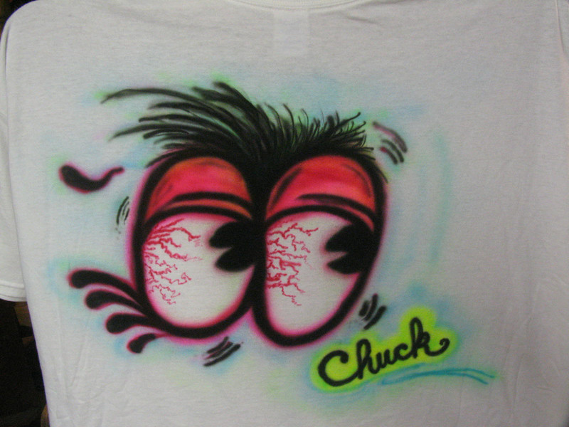 Some freehand work for buddy Chuck Darnell...