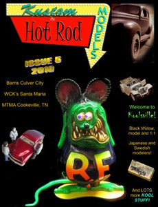 """My Ed Roth models were featured in Issue #5 2010 of """"Kustom & Hot Rod Models"""".  I highly recommend this great independent magazine!  It's loaded with fantastic rods & customs, especially from the Lowbrow community."""