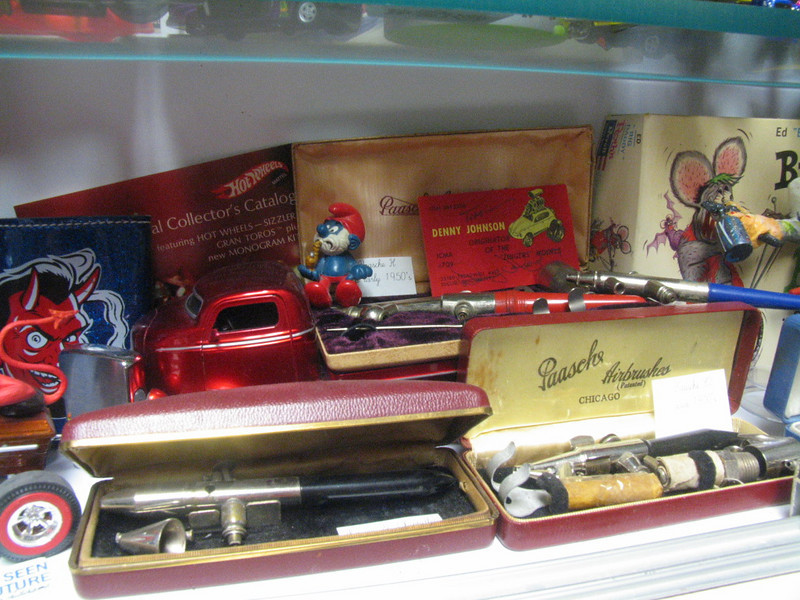 Some of my vintage airbrushes.