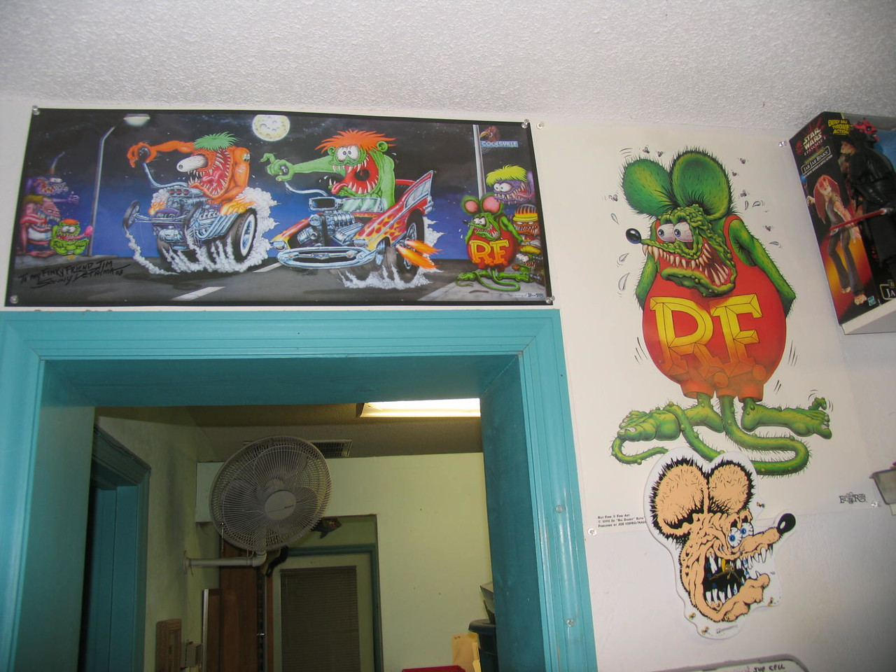 Racin' for pinks!!!  (note Rat Fink clock)