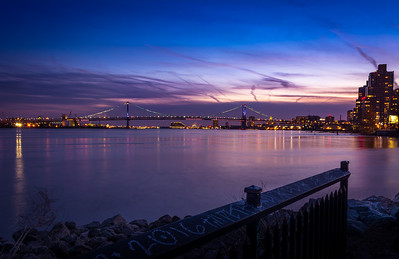 The Ben Franklin Bridge Dusk