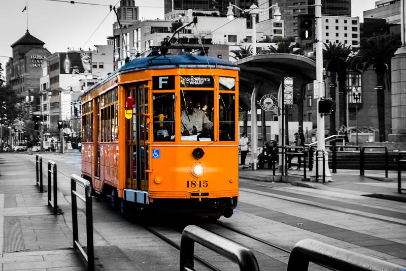 Historic Streetcar # 1815 San Francisco