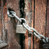 Locked old doors