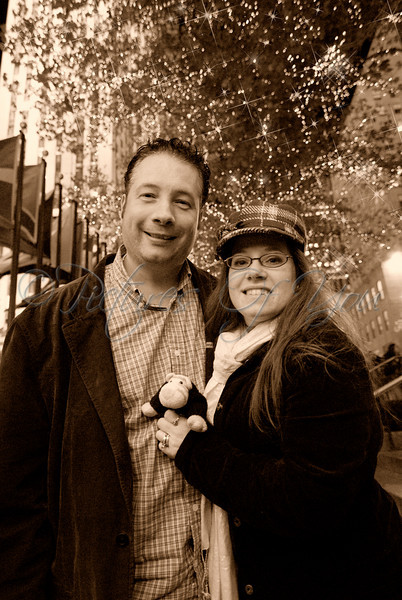 At Rockefeller Plaza in NYC.