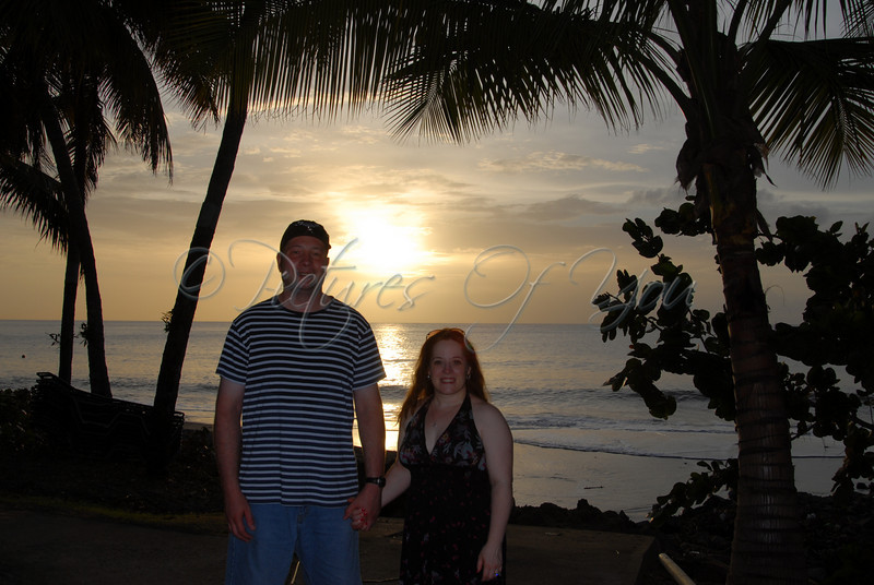 We asked a passerby to take a pic of us while the sun was setting during our Honeymoon in St. Lucia.