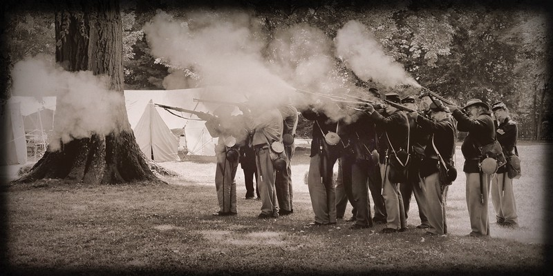 The Civil War Reenactment at the James A. Garfield National Historic Site, Mentor, Ohio
