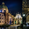 Prague in night