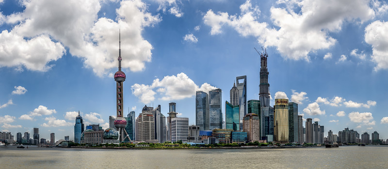 Panorama of downtown Shanghai
