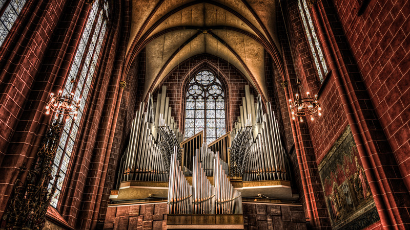 Pipe organ of small Church