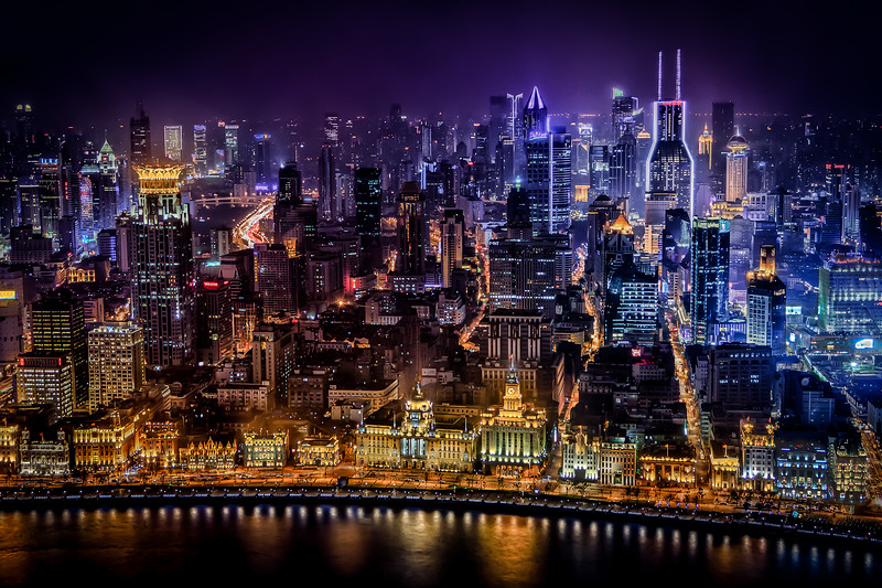 Shanghai, The Bund at night