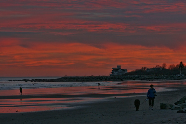 Magical Sunset at Hampton Beach, NH