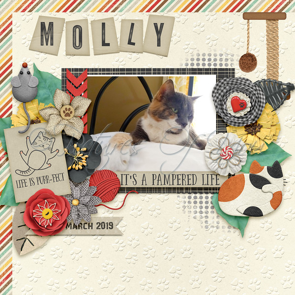 Page made with Pretty Paws: Cats by Magical Scraps Galore