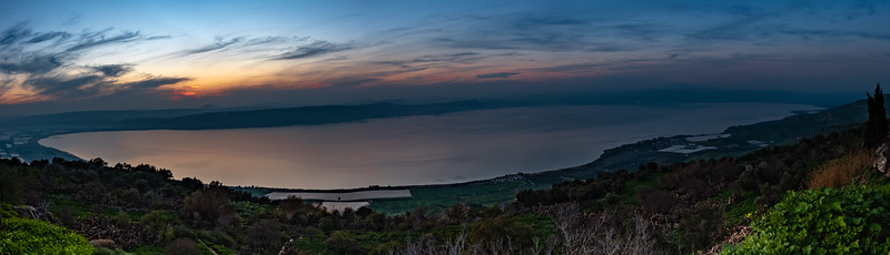 The Sea of Galilee from the Golan Heights