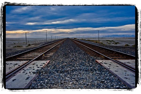 Railroad to infinity at Knolls, Utah