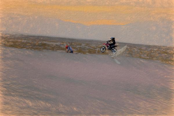 The Dunes riders at Knolls, Utah