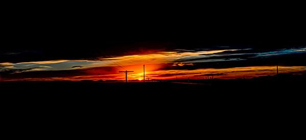 The Amazing Sunset at Knolls, Utah