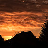 Sunset in a village