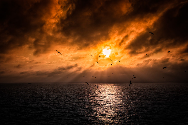 Sunset in Gulf of mexico