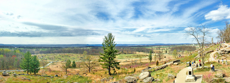 View from Little Round Top, Gettysburg Pennsylvania