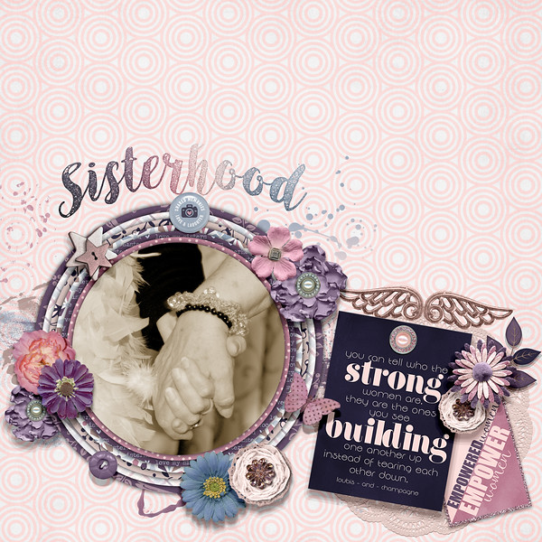 12x12 Digital Scrapbook Page using GS Sisterhood kit