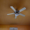 Ac and fans in bathroom and bedroom.