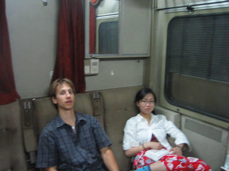 34 - mike and song on the night train to Aswan